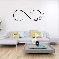 I Love My Wall Floral (F-303)Sticker(Baykuş Sticker Hediye!)