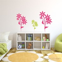 I Love My Wall Floral (F-313)Sticker(Baykuş Sticker Hediye!)