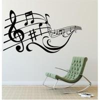 I Love My Wall Müzikal (M-042)Sticker(Baykuş Sticker Hediye!)