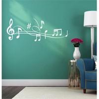 I Love My Wall Müzikal (M-044)Sticker(Baykuş Sticker Hediye!)