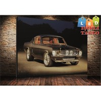 Tablo İstanbul Mustang Led Işıklı Kanvas Tablo 45*65 Cm