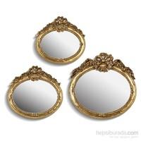 Noble Life Üçlü Celebrity Ayna - Altın