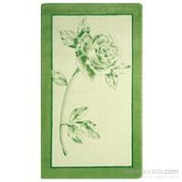 Confetti Gül 80X140 Fıstık Yeşili Oymalı Dekoratif Halı