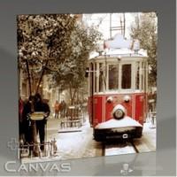 Pluscanvas - İstanbul - Snowing Tablo