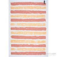 3K Konsept Nw 6032 White/Orange/Yellow Şönil Dokuma Halı 160X230