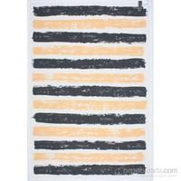 3K Konsept Nw 6032 White/Black/Yellow Şönil Dokuma Halı 160X230