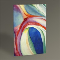 Tablo 360 Georgia O'keeffe Pink And Blue Music 45X30