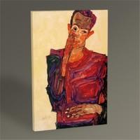 Tablo 360 Egon Schiele Selbstbildnis Mit Einer Hand An Der Wange 45X30