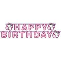 Parti Paketi Charmmy Kitty Happy Birthday Banner