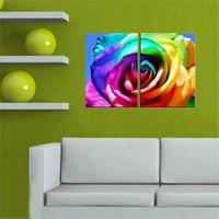 Canvastablom İ496 Renkli Gül Parçalı Tablo