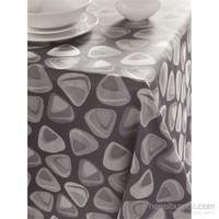 Issimo Home 160x260 Kroşetalı Masa Örtüsü - Shabby Gümüş
