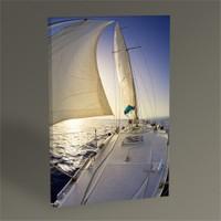 Tablo 360 Gün Batımı Ve Yelkenli Tablo 45X30