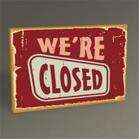 Tablo 360 We're Closed Tablo 45X30