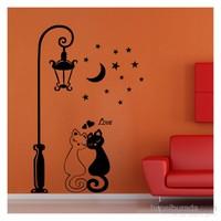 Lover Cats Kadife Duvar Sticker 114X173 Cm