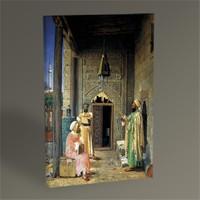 Tablo 360 Osman Hamdi Cami Kapısı Önünde Konuşan Hocalar Tablo 45X30