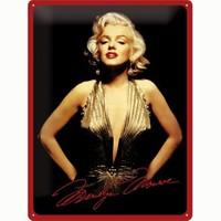 Nostalgic Art Marilyn Monroe Metal Kabart Malı Duvar Panosu (30 X 40 Cm)