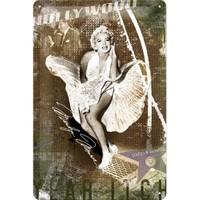 Nostalgic Art Marilyn Monroe Subway Grate Metal Kabart Malıduvar Panosu (20 X 30 Cm)