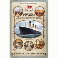 Nostalgic Art Titanic Tau Metal Kabart Malı Duvar Panosu (20 X 30 Cm)