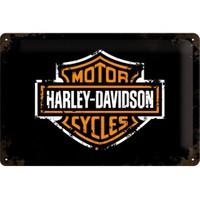 Nostalgic Art Harley Davidson Paint Logo Metal Kabart Malı Duvar Panosu (20 X 30 Cm)