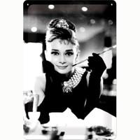Nostalgic Art Audrey Hepburn Metal Kabart Malı Duvar Panosu (20 X 30 Cm)