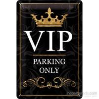 Vıp Parking Only Metal Kabartmalı Duvar Panosu
