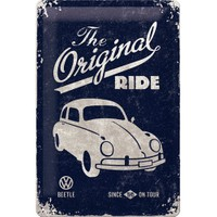 Nostalgic Art Vw Beetle-The Original Metal Kabart Malı Duvar Panosu (20 X 30 Cm)