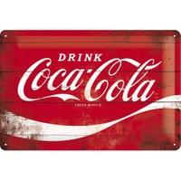 Nostalgic Art Coca Cola Red Wave Metal Kabart Malı Duvar Panosu (20X30 Cm)