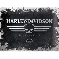 Nostalgic Art Harley Davidson Skull Metal Kabart Malı Duvar Panosu (30 X 40 Cm)