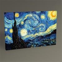 Tablo 360 Vincent Van Gogh-Yıldızlı Gece Tablo 60X40