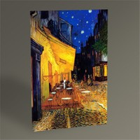 Tablo 360 Vincent Van Gogh-Gece Kahvesi Tablo 45X30