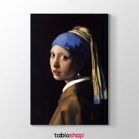Tabloshop Johannes Vermeer - İnci Küpeli Kız Tablosu