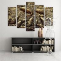 Dekoratif 5 Parçalı Kanvas Tablo-5K-Hb061015-104
