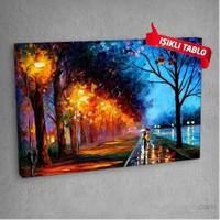 Aşk Yolu Led Işıklı Kanvas Tablo 50X70 Cm