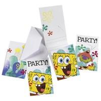 Parti Paketi Sponge Bob Davetiye 6'Lı