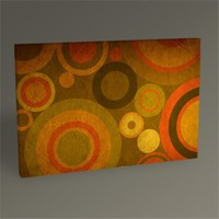 Tablo 360 Retro Abstract Tablo 45X30