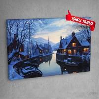 Göl-Evi-Dm-703 Led Işıklı Kanvas Tablo 50X70 Cm