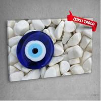 Nazar-Boncuğu Led Işıklı Kanvas Tablo 50X70 Cm
