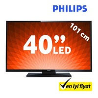 "Philips 40PFL3008K 40"" 100Hz Uydu Alıcılı UsbMovie FULL HD LED TV"