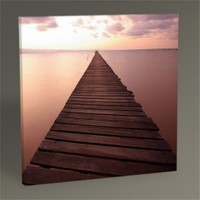 Tablo 360 Wood Bridge On Sea Tablo 30X30
