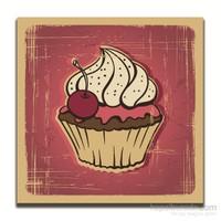 Dolce Home Dekoratif Vişneli Cupcake Tablo