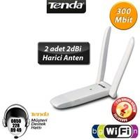 Tenda W322UA Çift Antenli 300Mbps Wireless N Kablosuz USB Adaptör
