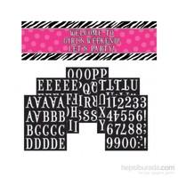 KullanAtMarket Zebra Partisi Kişiye Özel Dev Harf Afiş 1 Adet