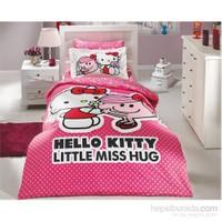 Hobby Tek Kişilik Lisanslı Nevresim Takımı Hello Kitty Pembe