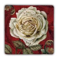 Oscar Stone White Rose Taş Tablo