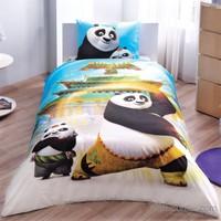 Taç Lisanslı Kung Fu Panda Movie Tek Kişilik Nevresim Takımı