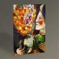 Tablo 360 Marc Chagall Woman With A Bouquet Tablo 45X30