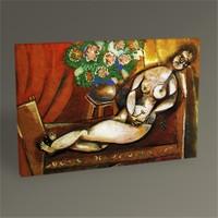 Tablo 360 Marc Chagall Reclining Nude 45X30