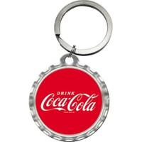 Nostalgic Art Coca Cola Logo Yuvarlak Anahtarlık (4 Cm)
