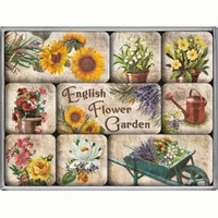 Nostalgic Art English Flower Garden Magnet Set (9 Parça)