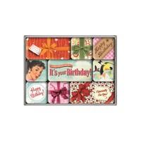 Nostalgic Art Say It 50S Happy Birthday Magnet Set (9 Parça)